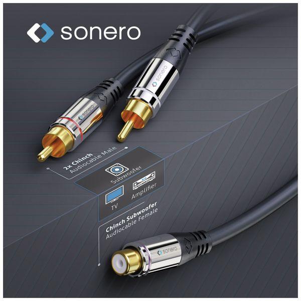 Audioadapter SONERO, 0,20 m, 2x Cinchstecker auf Cinchbuchse - Produktbild 4