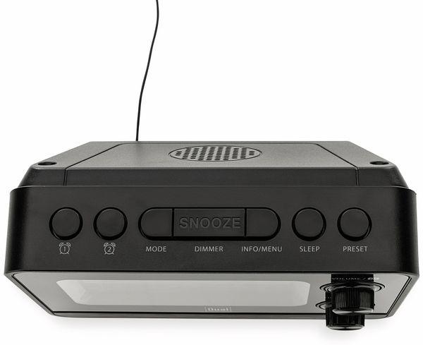 DAB+/UKW Radiowecker DUAL DAB CR 10, mit USB Charging, schwarz - Produktbild 3