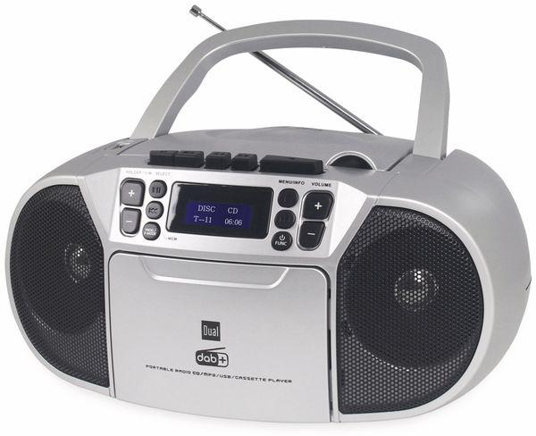 CD-Player DUAL DAB-P 210, silber