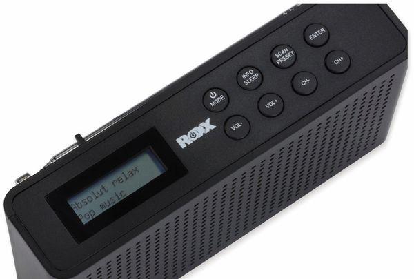 DAB Radio ROXX DAB 201, DAB+, Akku, schwarz - Produktbild 3