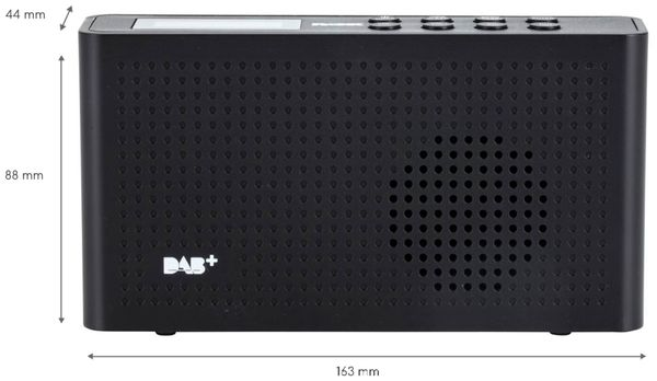 DAB Radio ROXX DAB 201, DAB+, Akku, schwarz - Produktbild 4
