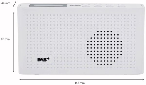DAB Radio ROXX DAB 201, DAB+, Akku, weiß - Produktbild 4