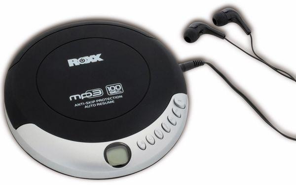 Portabler CD-Player ROXX PCD 501, schwarz