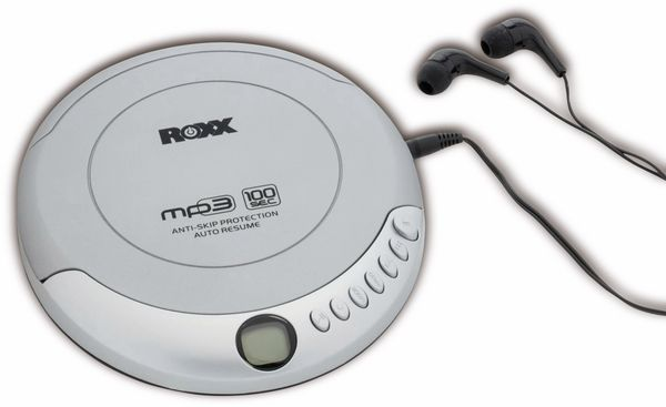Portabler CD-Player ROXX PCD 501, silber