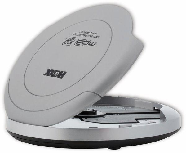 Portabler CD-Player ROXX PCD 501, silber - Produktbild 3