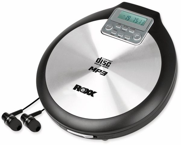 Portabler CD-Player ROXX PCD 600, schwarz/silber