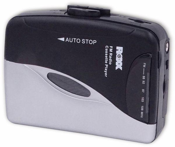 Kassettendeck ROXX PCP 300, schwarz/silber