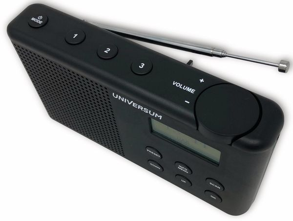 DAB+ Radio UNIVERSUM DR 200-20, Akku, schwarz - Produktbild 3