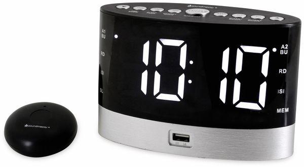 Radiowecker SOUNDMASTER UR580SW, Alarmuhr für Hörgeschädigte, schwarz