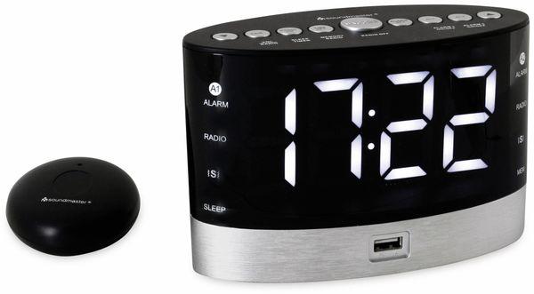 Radiowecker SOUNDMASTER UR580SW, Alarmuhr für Hörgeschädigte, schwarz - Produktbild 3