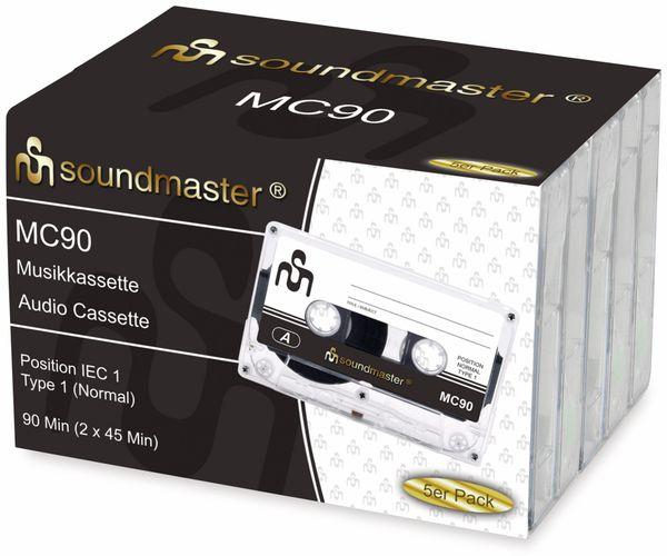 Leerkassette SOUNDMASTER MC90 IEC1, 5er Pack - Produktbild 2