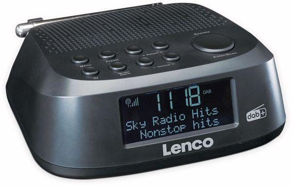DAB+/FM Uhrenradio LENCO CR-605BK, schwarz