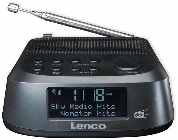 DAB+/FM Uhrenradio LENCO CR-605BK, schwarz - Produktbild 2