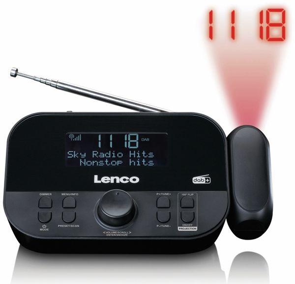 DAB+/FM Uhrenradio LENCO CR-615BK, mit Projektor, schwarz - Produktbild 2