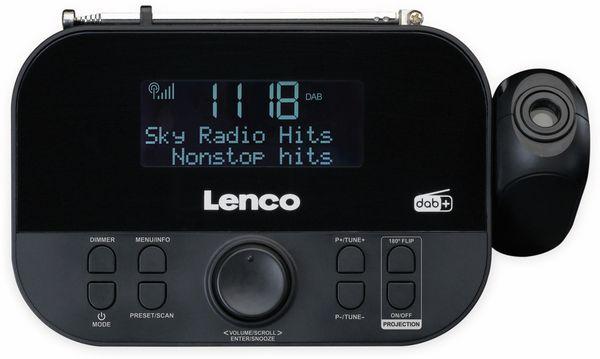 DAB+/FM Uhrenradio LENCO CR-615BK, mit Projektor, schwarz - Produktbild 3