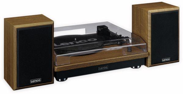 Plattenspieler LENCO LS-100WD, holzoptik, Bluetooth, mit 2 Lautsprecherboxen