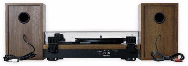 Plattenspieler LENCO LS-100WD, holzoptik, Bluetooth, mit 2 Lautsprecherboxen - Produktbild 4