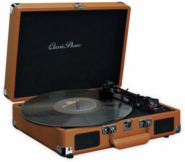 Plattenspieler LENCO TT-10BN, Retro-Stil, mit integrierten Lautsprechern