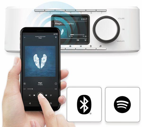 Küchenunterbauradio HAMA DIR355BT, DAB+, Internetradio, Bluetooth, weiß - Produktbild 3
