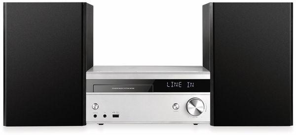 Mini-HiFi Stereoanlage NABO Symphony CM 1509, CD/MP3-Player, silber/schwarz