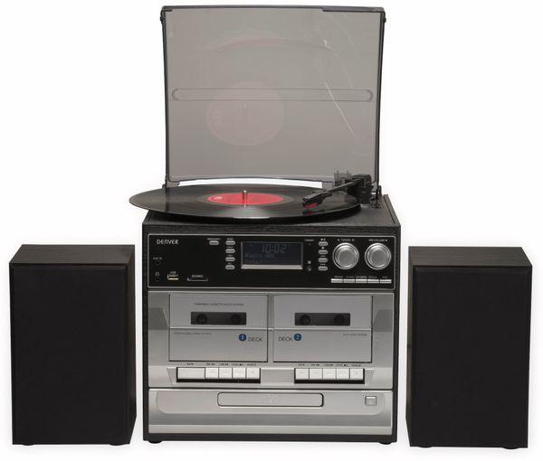 Stereoanlage DENVER MRD-166, DAB+/FM, CD-Player, Turntable, Dual Cassettendeck