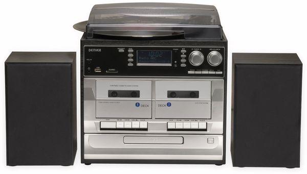 Stereoanlage DENVER MRD-166, DAB+/FM, CD-Player, Turntable, Dual Cassettendeck - Produktbild 2