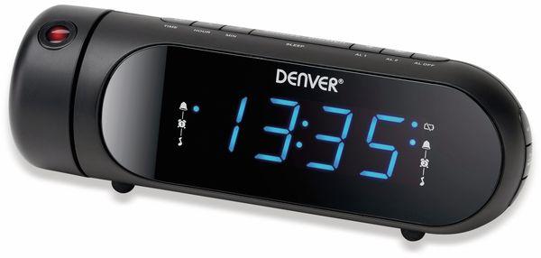 Uhrenradio DENVER CPR-700, schwarz, mit Projektion