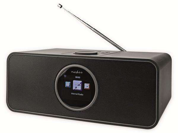 Internetradio NEDIS, RDIN4000BK, 42 W, FM, Bluetooth, schwarz