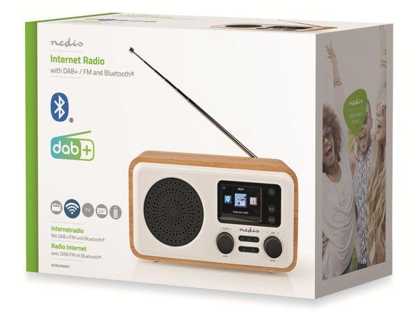 Internetradio NEDIS, RDIN2000WT, 7 W, DAB+/FM, Bluetooth - Produktbild 3