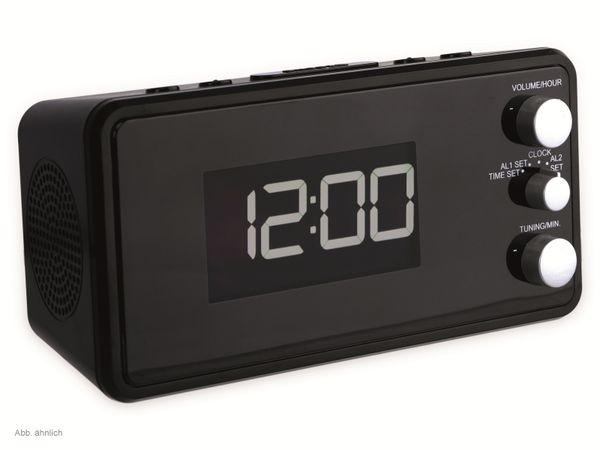 Uhrenradio, RW584, schwarz, USB-Ladeanschluss