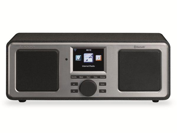 Internetradio LENCO DIR-150, Bluetooth, schwarz/silber
