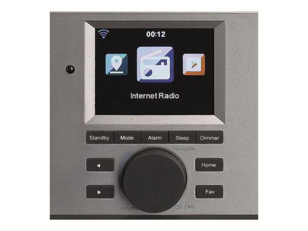 Internetradio LENCO DIR-150, Bluetooth, schwarz/silber - Produktbild 3