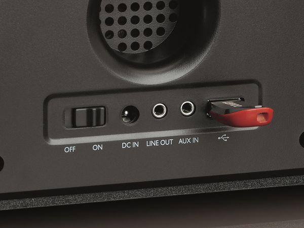Internetradio LENCO DIR-150, Bluetooth, schwarz/silber - Produktbild 4