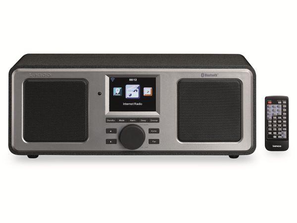 Internetradio LENCO DIR-150, Bluetooth, schwarz/silber - Produktbild 7