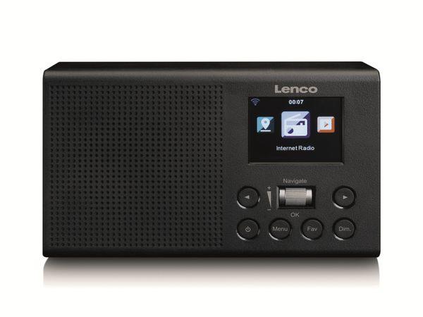 Internetradio LENCO DIR-60BK, DAB+/FM, WLAN, schwarz