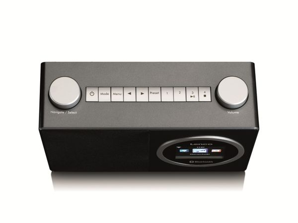 Internetradio LENCO DIR-70BK, DAB+/FM, WLAN, Bluetooth, schwarz - Produktbild 3