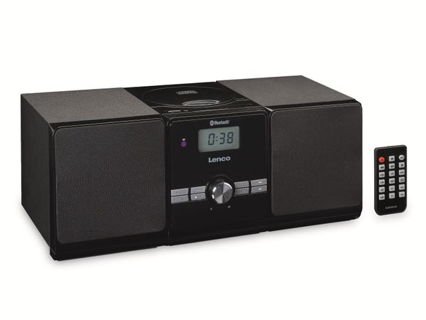 Stereoanlage LENCO MC-030BK, FM, USB, CD/MP3-Player, Bluetooth, schwarz - Produktbild 2