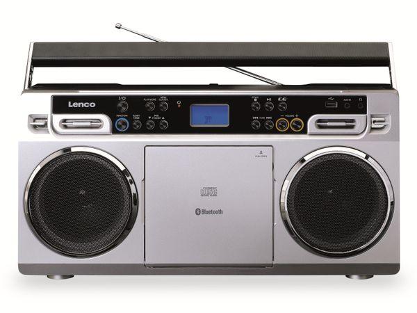 FM-Radio LENCO SCD-580SI, USB, CD/MP3-Player, Bluetooth, silber