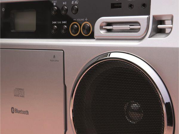 FM-Radio LENCO SCD-580SI, USB, CD/MP3-Player, Bluetooth, silber - Produktbild 2