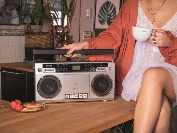 FM-Radio LENCO SCD-580SI, USB, CD/MP3-Player, Bluetooth, silber - Produktbild 3