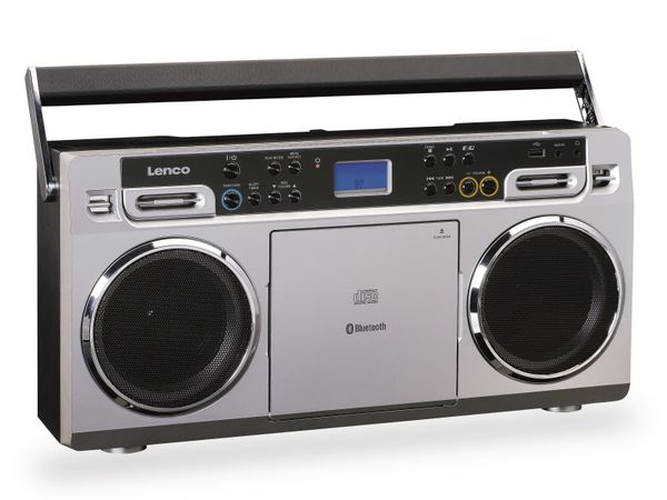 FM-Radio LENCO SCD-580SI, USB, CD/MP3-Player, Bluetooth, silber - Produktbild 4