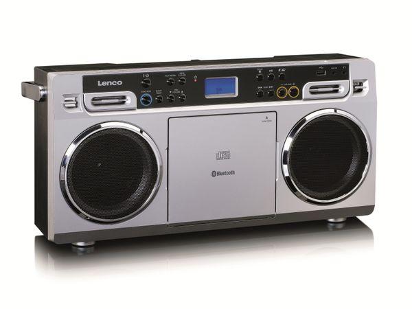 FM-Radio LENCO SCD-580SI, USB, CD/MP3-Player, Bluetooth, silber - Produktbild 8