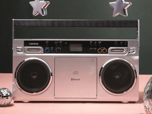 FM-Radio LENCO SCD-580SI, USB, CD/MP3-Player, Bluetooth, silber - Produktbild 10