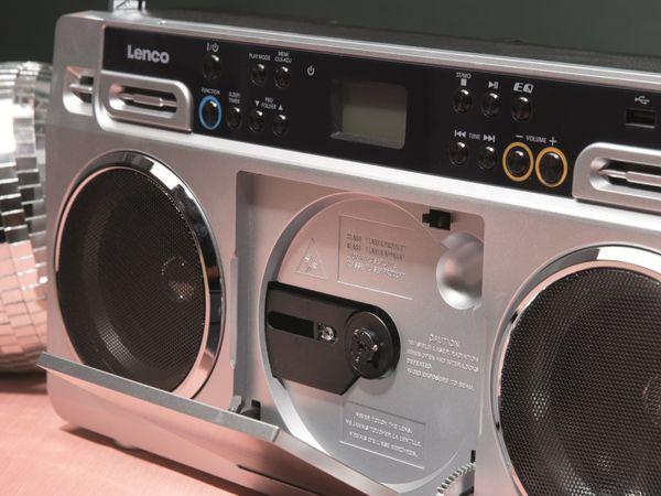 FM-Radio LENCO SCD-580SI, USB, CD/MP3-Player, Bluetooth, silber - Produktbild 11