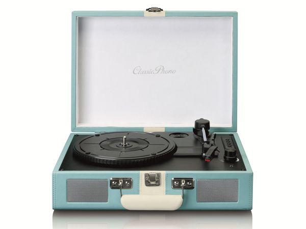 Plattenspieler LENCO TT-110, Retro-Stil, Bluetooth, int. Lautsprecher, blau
