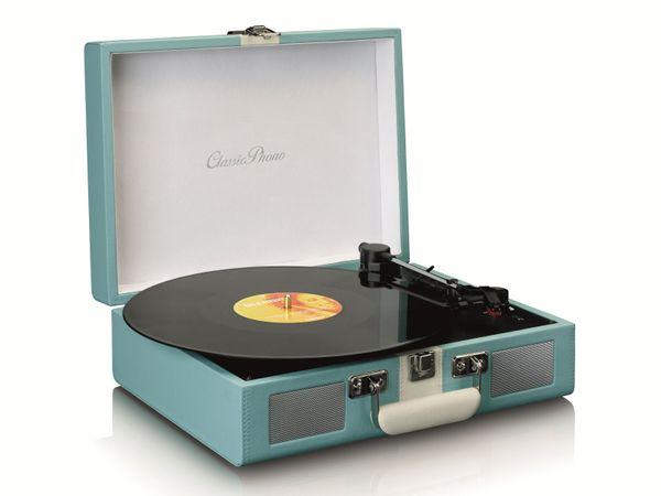 Plattenspieler LENCO TT-110, Retro-Stil, Bluetooth, int. Lautsprecher, blau - Produktbild 2