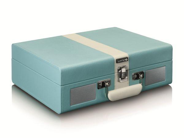 Plattenspieler LENCO TT-110, Retro-Stil, Bluetooth, int. Lautsprecher, blau - Produktbild 5