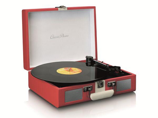 Plattenspieler LENCO TT-110, Retro-Stil, Bluetooth, int. Lautsprecher, rot - Produktbild 2