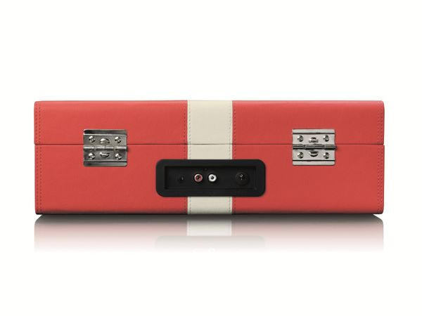 Plattenspieler LENCO TT-110, Retro-Stil, Bluetooth, int. Lautsprecher, rot - Produktbild 3