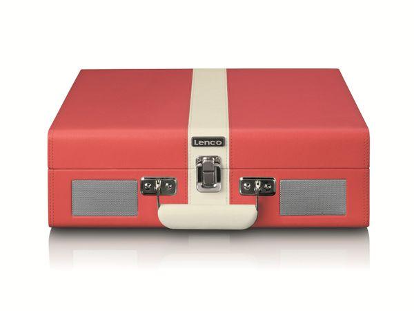 Plattenspieler LENCO TT-110, Retro-Stil, Bluetooth, int. Lautsprecher, rot - Produktbild 4